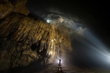 The world's largest cave Son Doong, Vietnam or Room Miao, China